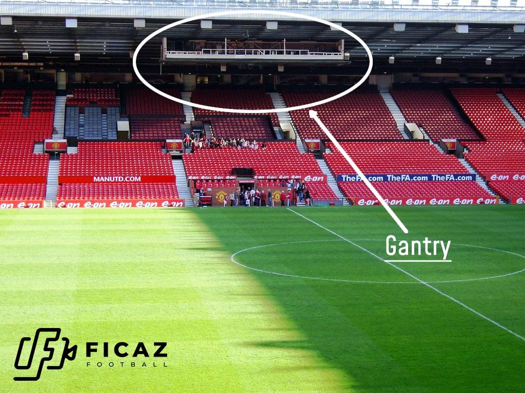 Old Trafford-broadcast TV Gantry1